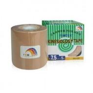 Kinesiology Tape Temtex - Beige 7,5cm.x 5m. CAJA 4 ROLLOS