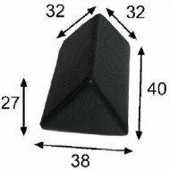 Cojín triangular grande 38x40x32x27