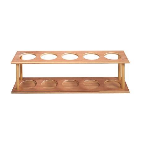 Mueble de madera portarulos