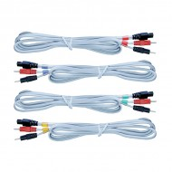 JUEGO 4 Cables Conexión 6 pins y Banana 2mm.